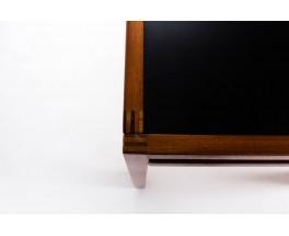 Table de repas Andre Sornay en acajou et plateau stratifie noir 1950