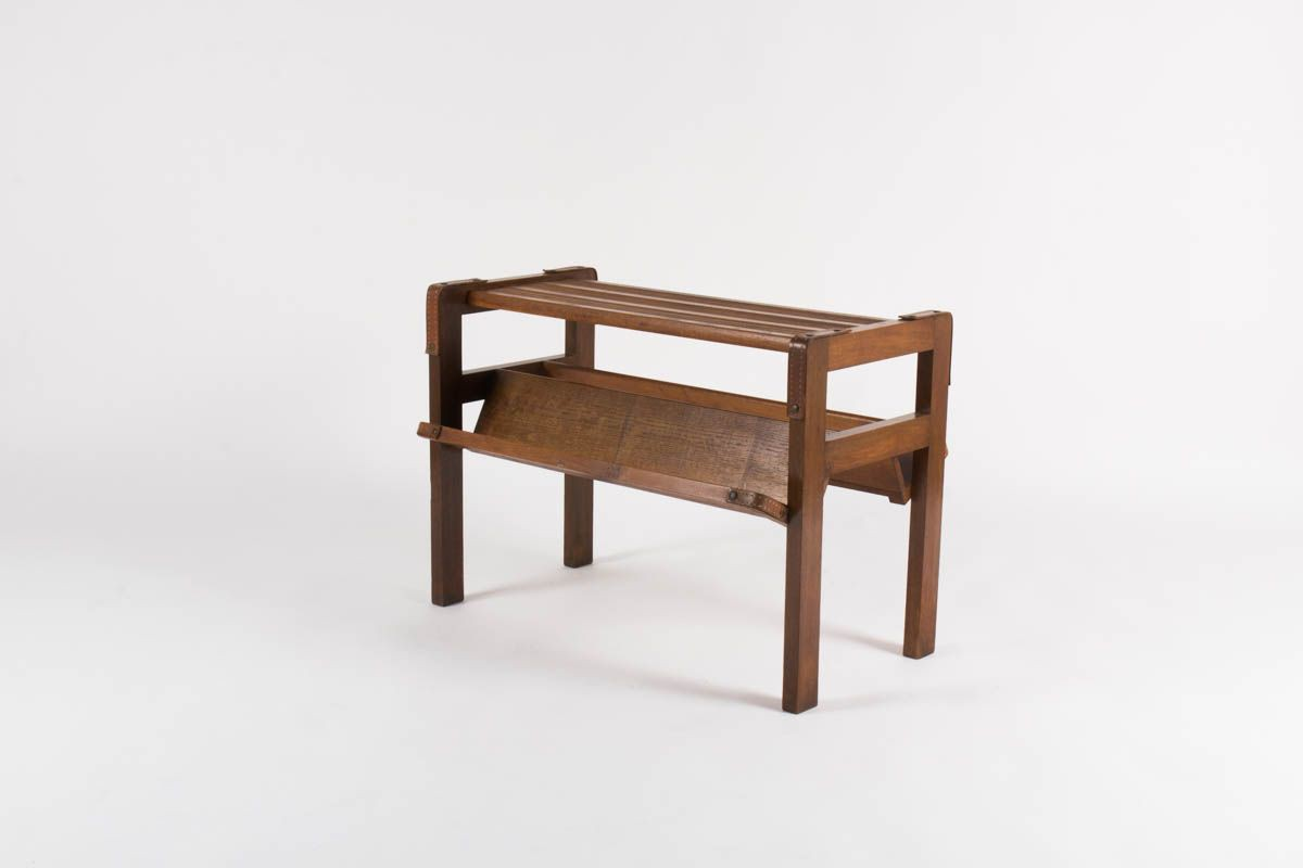 Table basse en chene Jacques Adnet 1930
