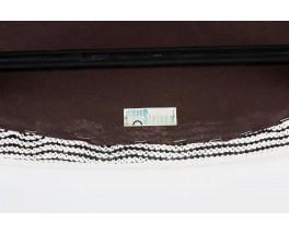 Chaises Joseph Andre Motte modele 764 tissu noir et blanc edition Steiner 1960 set de 4
