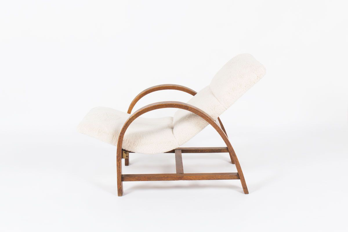 Lounge chair en chene design Art Deco 1930