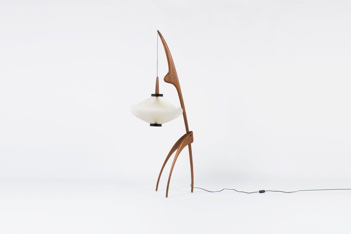 Lampadaire Rispal modele Mante Religieuse 1950