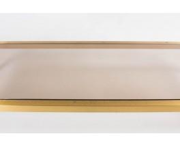 Console laiton et marbre de Carrare blanc 1950