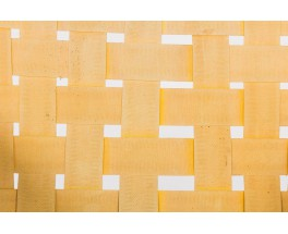Fauteuil Michael van Beuren en pin d'Oregon et sangles beige edition Meuble Domus 1950