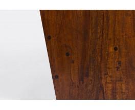 Fauteuils en palissandre de Rio et tissu lin 1950 set de 2