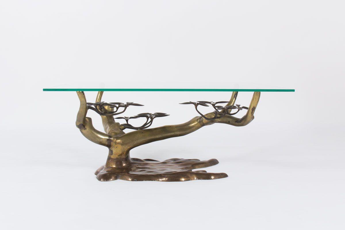 Table basse Willy Daro modele Bonsaï design belge 1970