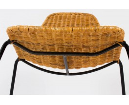 Chaises Gian Franco Legler modele Basket edition Pierantonio Bonacina 1950 set de 10