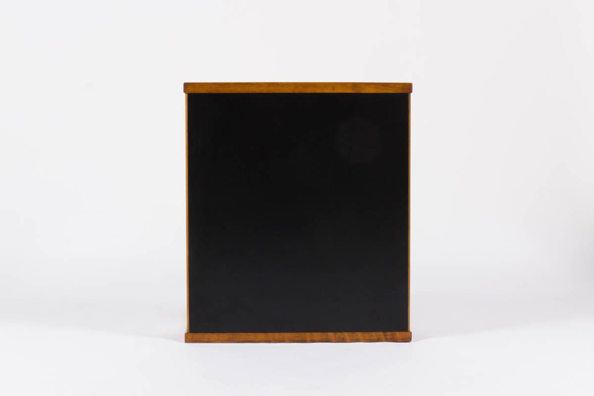 Bureau Andre Sornay petit modele stratifie noir et blanc 1950
