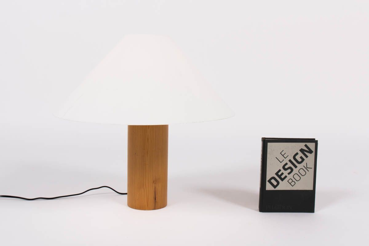Lampe en pin et perspex blanc edition Agusti 1960