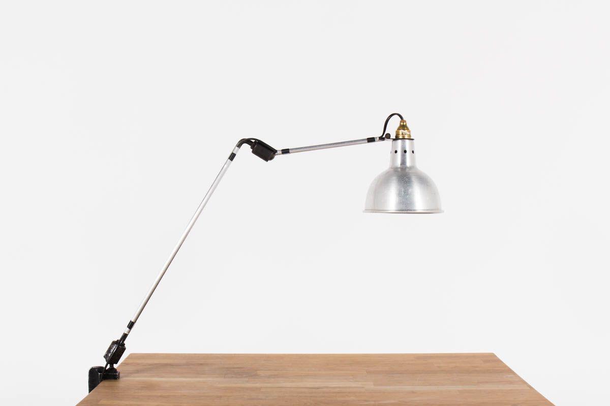 Lampe de bureau Georges Houillon modele a pince chrome 1930