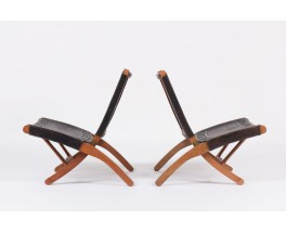 Fauteuils pliables Angel I Pazmino edition Muebles de Estilo 1960 set de 2 lot n°1