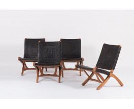Fauteuils pliables Angel I Pazmino edition Muebles de Estilo 1960 set de 2 lot n°1