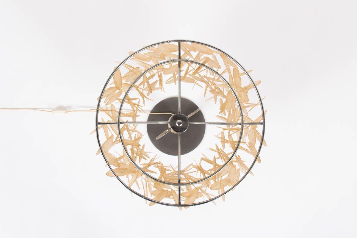 Lampe à pampilles de nacre design italien 1970