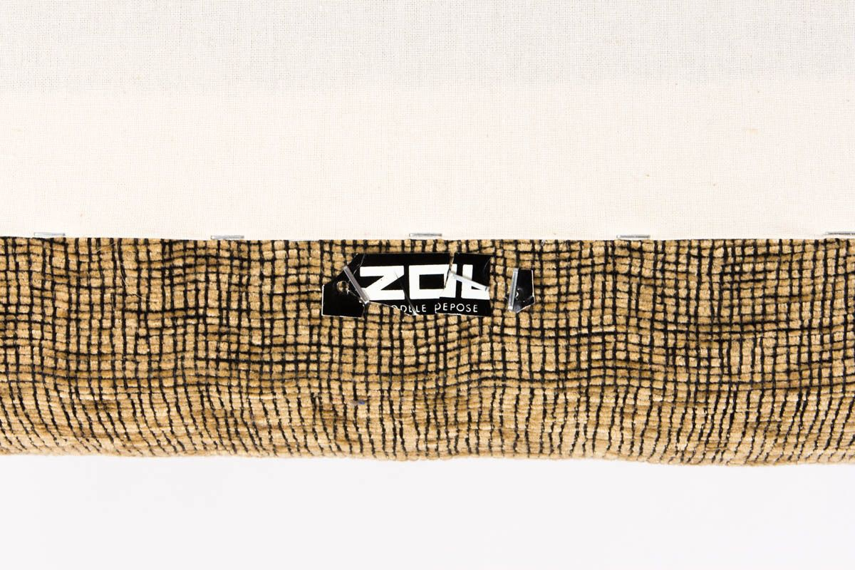 Fauteuils Louis Paolozzi tissu marron edition Zol 1950 set de 2