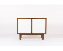 Commode Andre Sornay laque blanche et jaune moutarde 1960