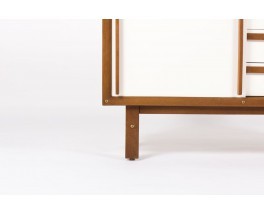 Commode Andre Sornay laque blanche 1960
