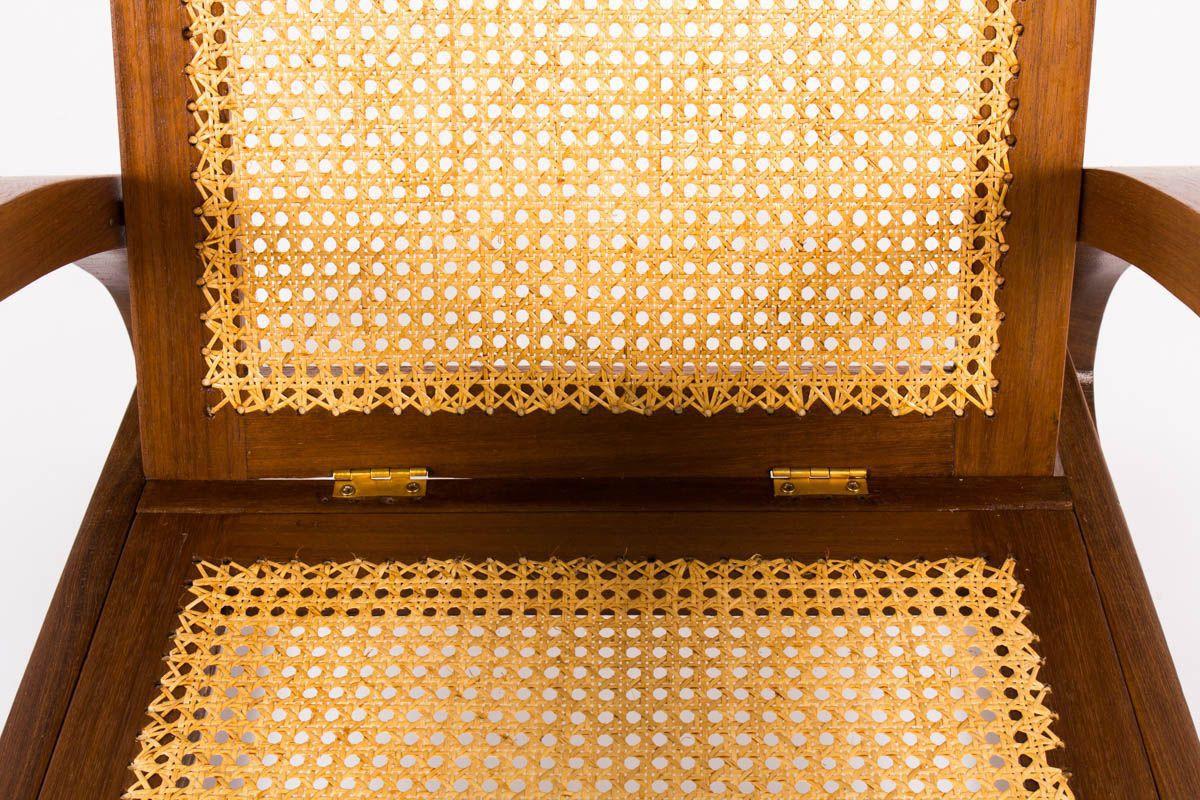 Fauteuils style colonial en acajou et cannage 1950 set de 2