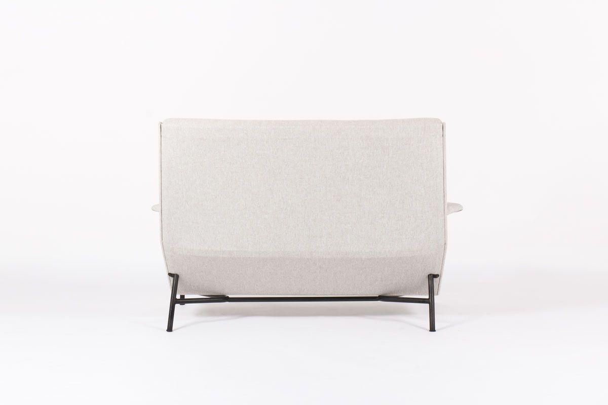 Canape Claude Vassal tissu lavable gris edition Claude Delor 1950