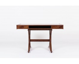Bureau Gianfranco Frattini en palissandre edition Bernini 1950