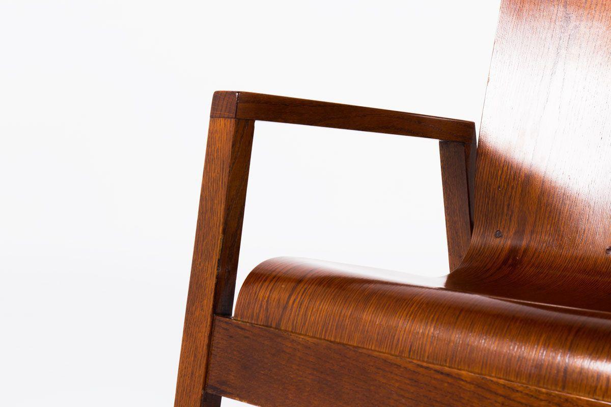 Rocking chair Mario Prandina modele Dondolo en chene edition Plinio Il Giovane
