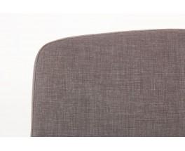 Chauffeuses Pierre Paulin modele CM190 tissu chine gris edition Thonet 1950 set de 2