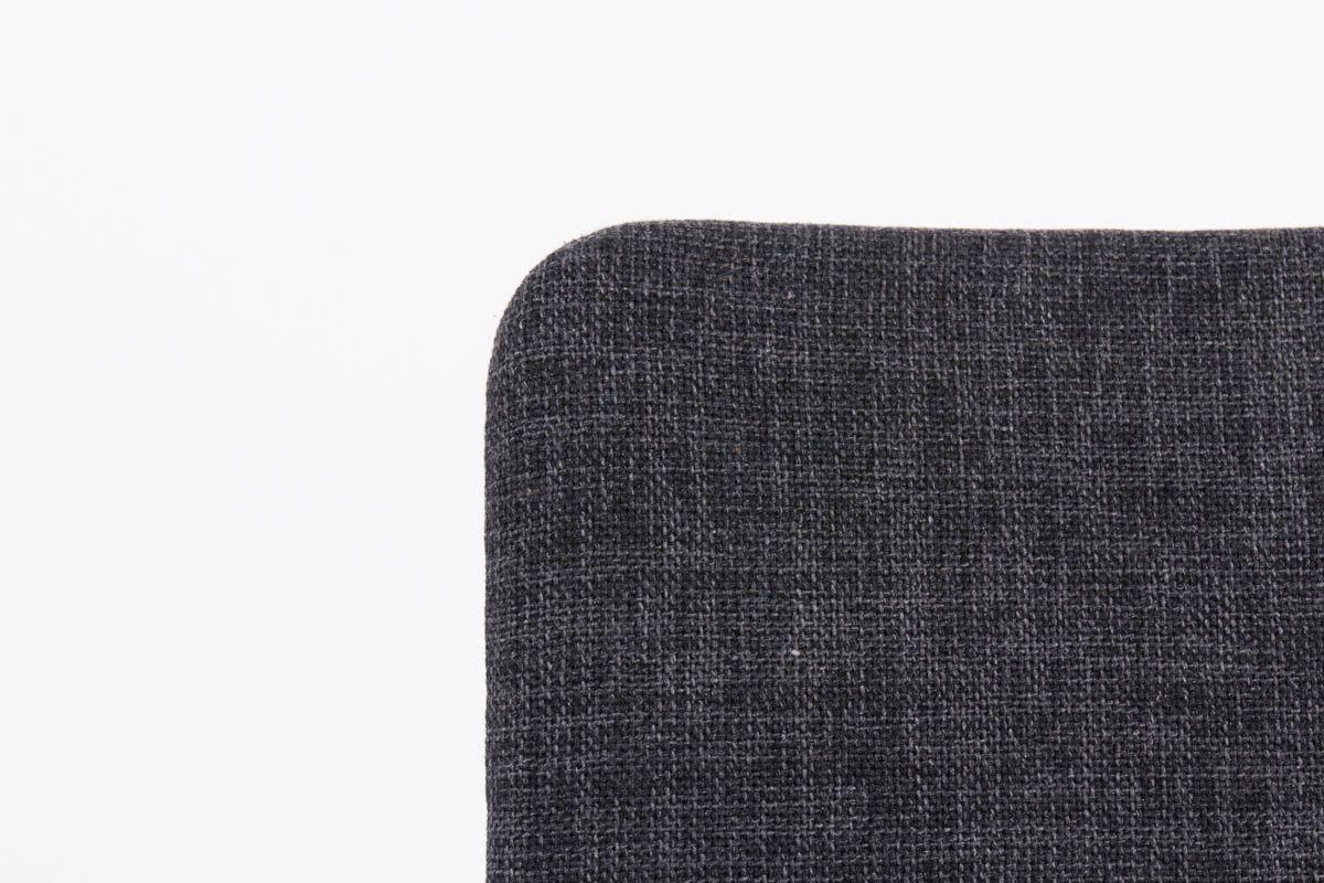 Chaises Andre Sornay acajou tissu chine gris noir 1950 set de 4