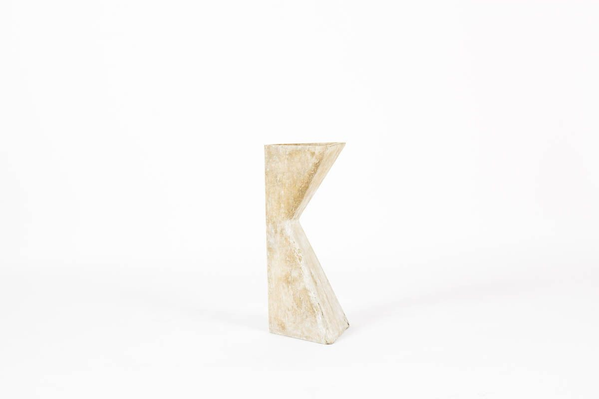 Jardiniere Willy Guhl triangle edition Eternit 1950