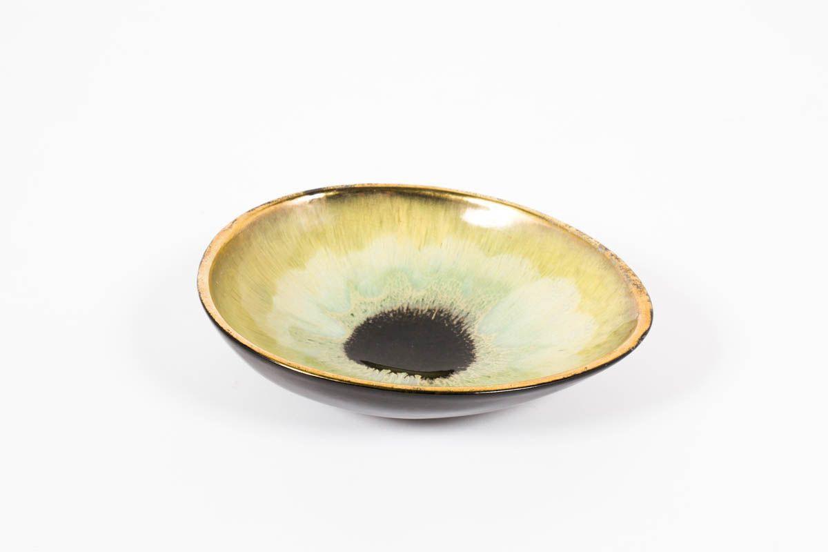 Coupes en ceramique modele oeil 1950 set de 2