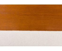 Fauteuil de bureau Alain Richard en noyer tissu beige 1970