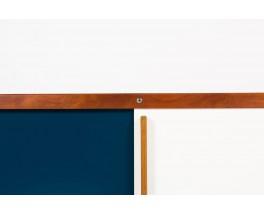 Enfilade Andre Sornay en acajou laque blanche et bleu canard 1960