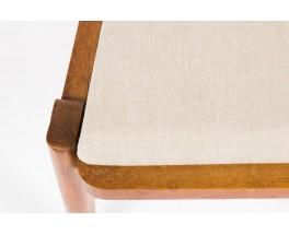 Chaises Guillerme et Chambron tissu lin beige edition Votre Maison 1950 set de 6
