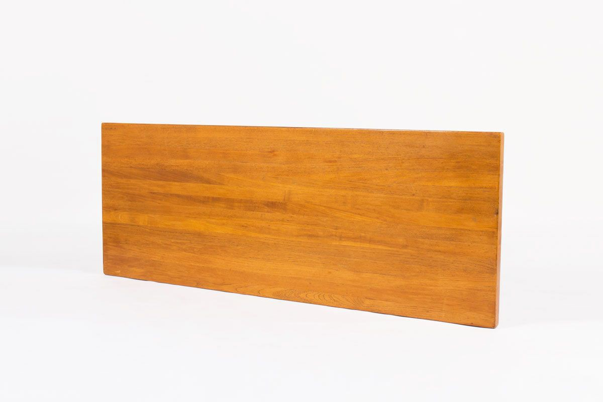 Table basse rectangulaire en teck grand modele design danois 1950