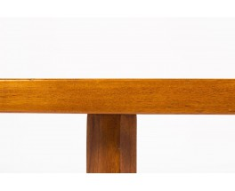 Table basse rectangulaire en teck grand modele design danois 1950