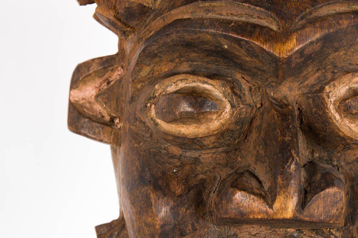 Masques decoratifs ethniques du Cameroun 1950 set de 2