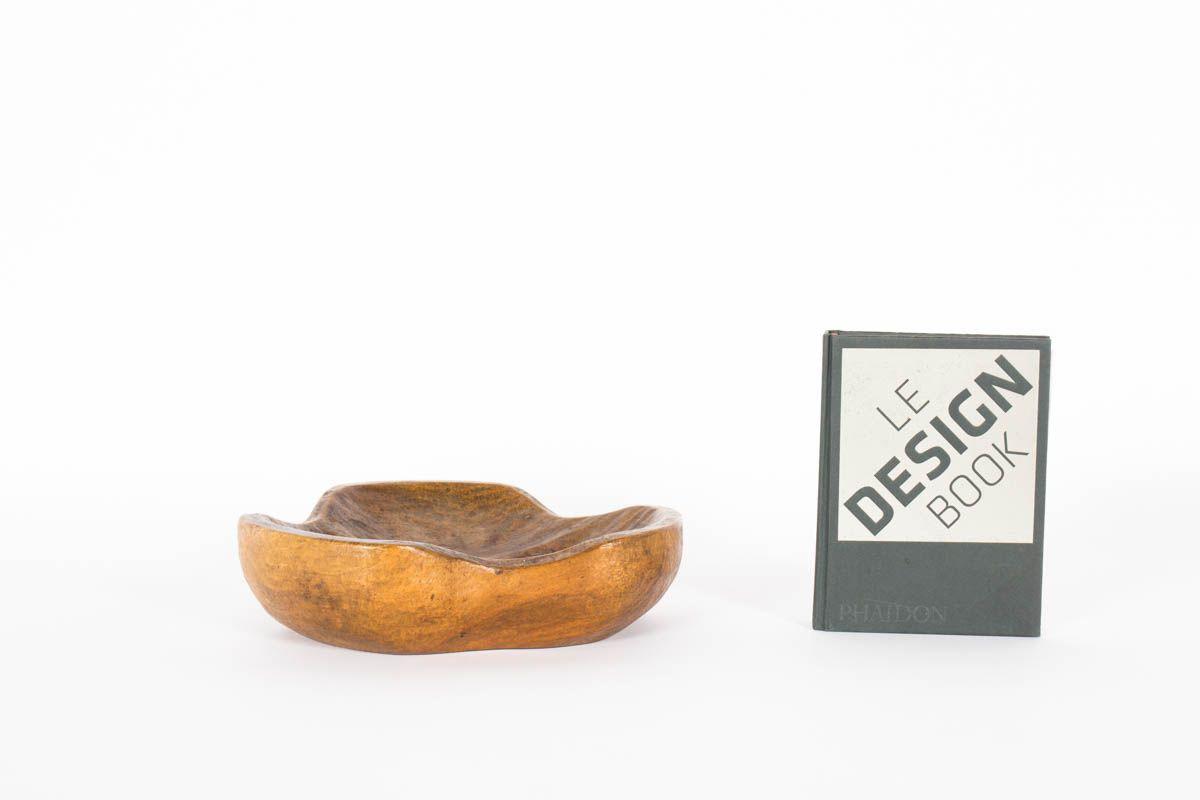 Vide poche en orme modele trefle forme libre 1950