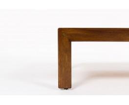 Table basse rectangulaire Andre Sornay acajou et stratifie noir 1960