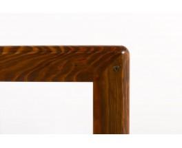 Table de repas rectangulaire Andre Sornay pin et stratifie noir 1960