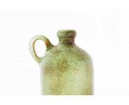 Vase bouteille Jean Beauplet en ceramique vert d'eau 1950