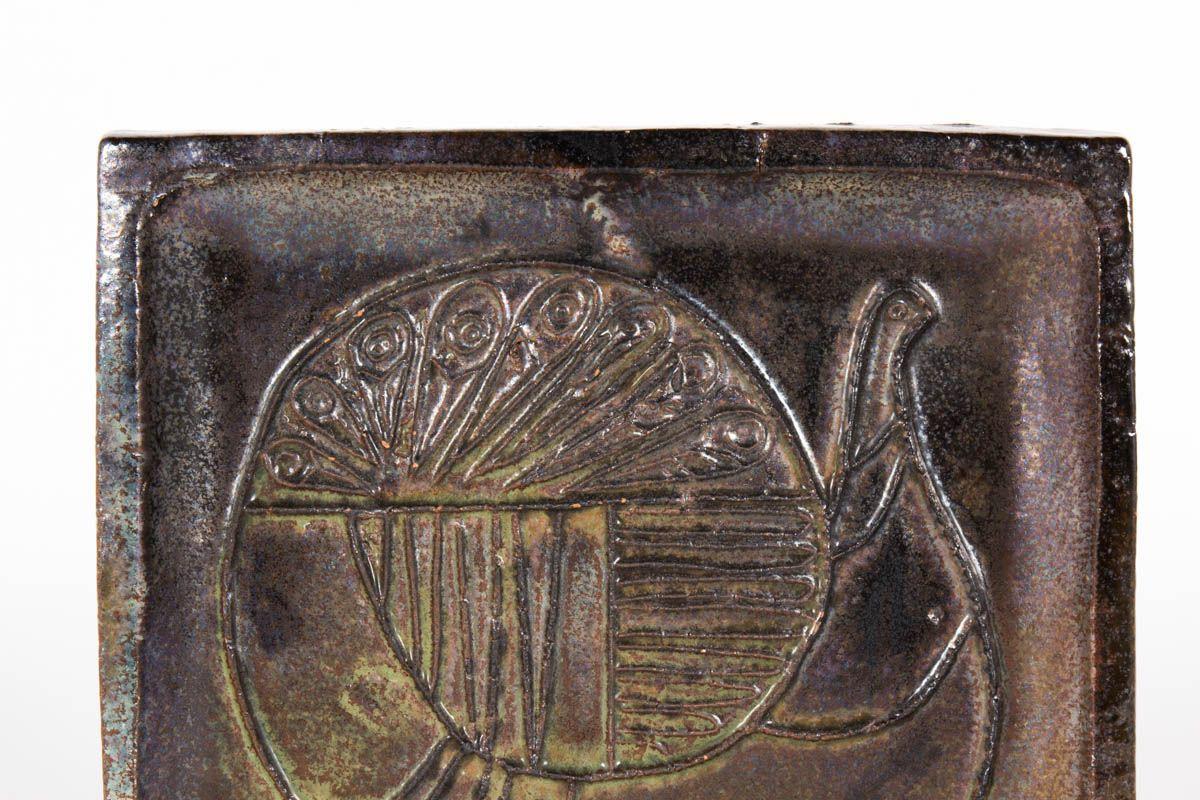 Vide poche en ceramique noir 1950