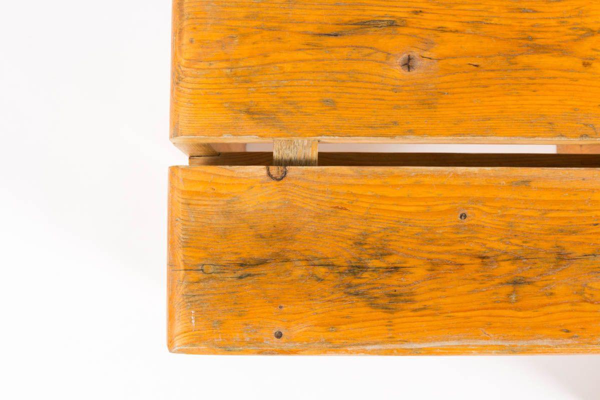 Tabourets Charlotte Perriand en pin pour Les Arcs 1960 set de 2