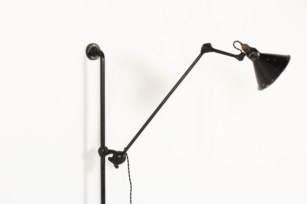 Applique Bernard Albin Gras modele 214 abat-jour dessinateur 1930