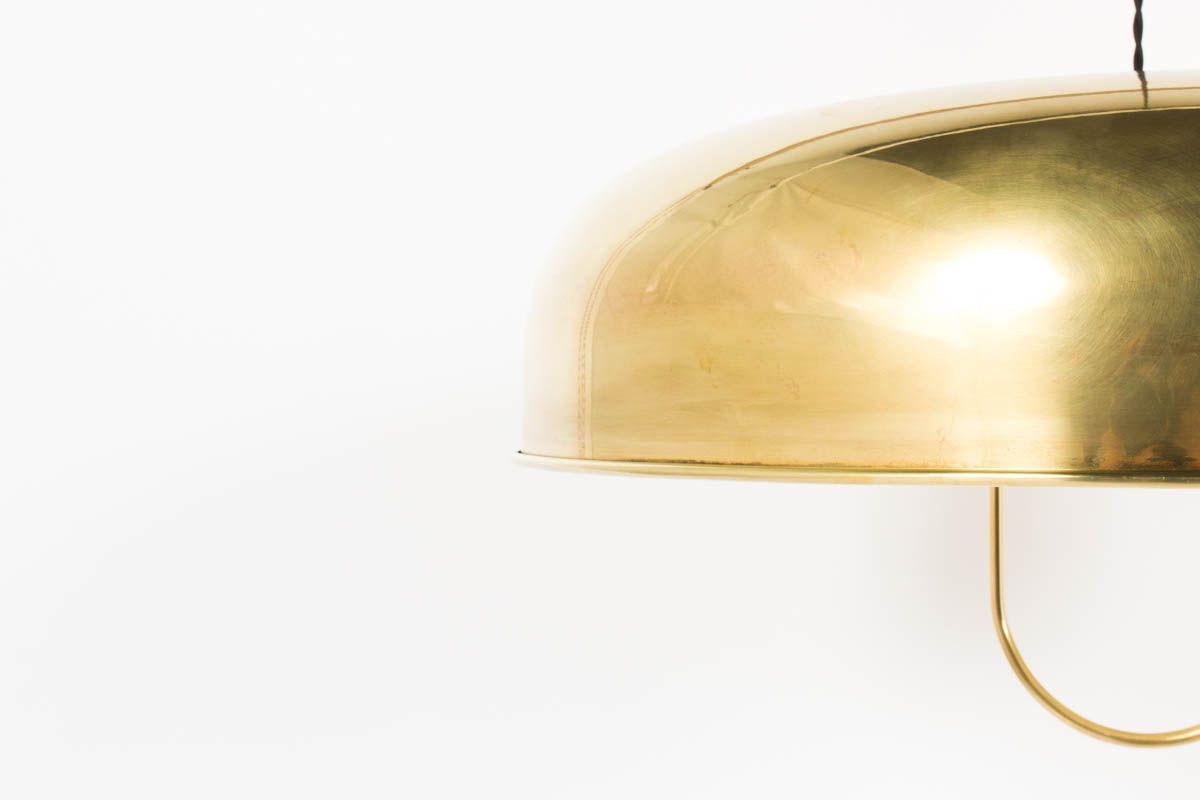 Suspension grand modele en laiton design italien 1950