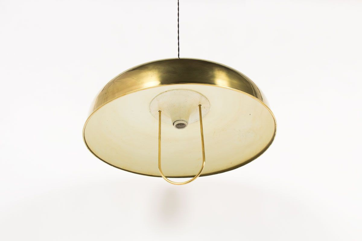 Suspension grand modele en laiton design italien 1950