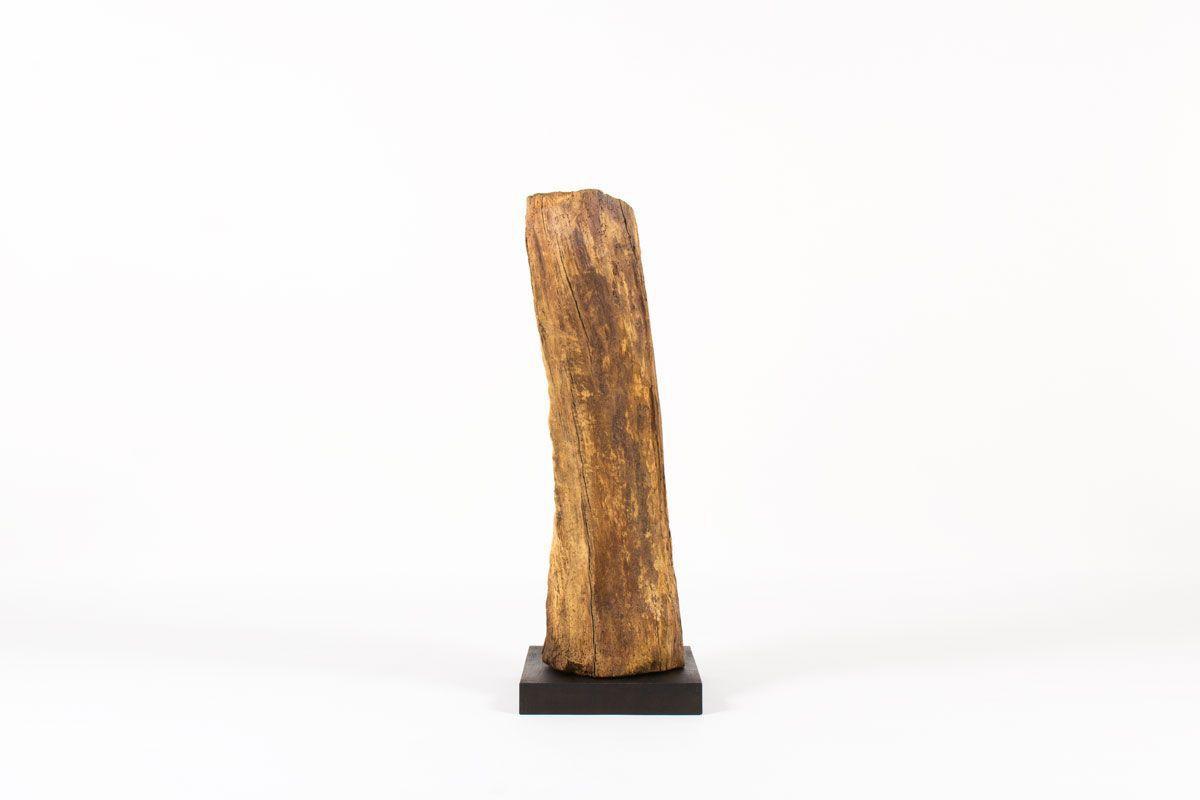 Sculpture en chene design brutaliste 1950