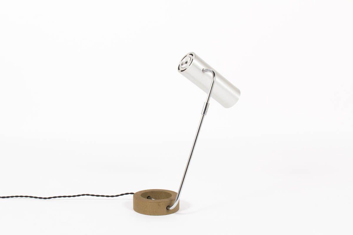 Lampe de table Rico Baltensweiler aluminium et fonte 1970