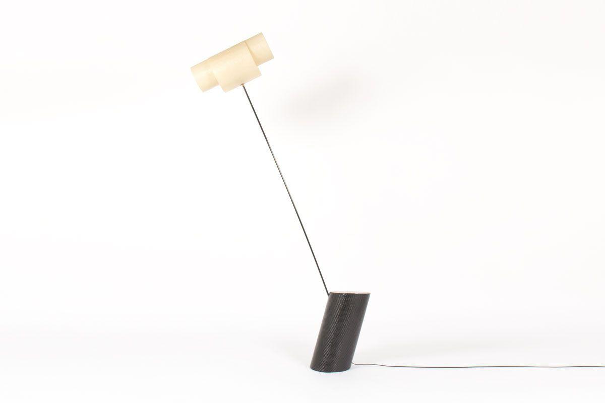 Lampadaire modele Carbocylindre par Guillaume Guinet