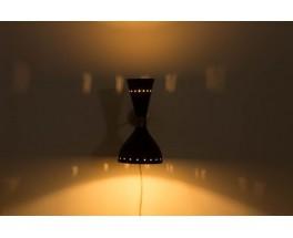 Appliques en laiton diffuseurs noir design contemporain italien set de 2