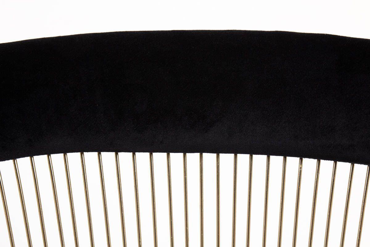 Fauteuils Warren Platner acier nickele et velours noir edition Knoll 1960 set de 2