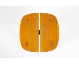 Tabourets Pierre Gautier-Delaye modele Grain de cafe edition Vergneres 1960 set de 4