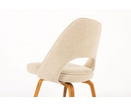 Chaises Eero Saarinen modele Executive lin beige edition Knoll International 1950 set de 2