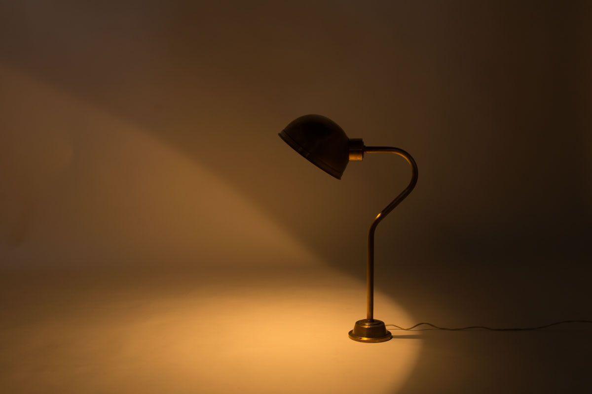 Lampes a poser en laiton 1950 set de 5